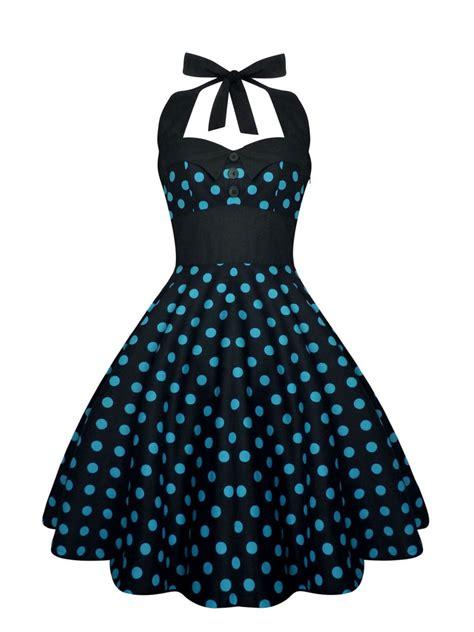 Mayra Polka rockabilly dress pin up dress black polka dot plus size