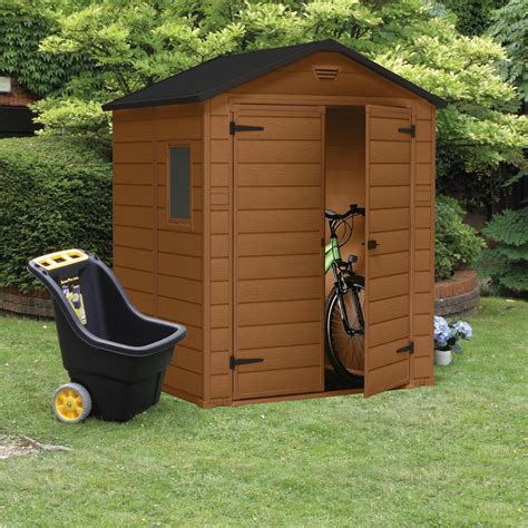 B And Q Sheds Plastic by 6x5 Apex Shiplap Plastic Shed Departments Diy At B Q
