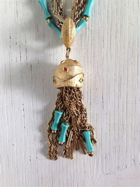 Hanging Chain Ls In by Unique Mid Century 60s Vintage Jewelry Necklace Gold Chain