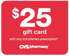 25 cvs prescription transfer gift card - Cvs Prescription Transfer 25 Gift Card