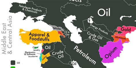 show me a map of the middle east map on middle east economy business insider
