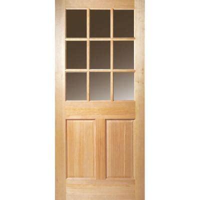 30 X 80 Exterior Door Masonite 30 In X 80 In 9 Lite Unfinished Fir Front Door Slab 87964 The Home Depot