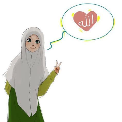 Gambar Kartun Jilbab gambar kartun sahabat muslimah dan muslim 15 gambar