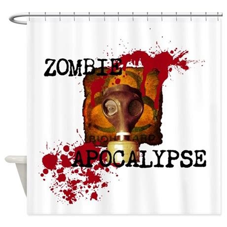zombie shower curtain set zombie apocalypse biohazard shower curtain by zombieguns187
