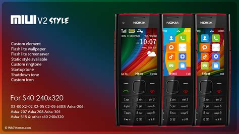 themes the nokia x2 miuiv6 rev 2 style theme x2 00 x2 02 x2 05 c2 05 6303i