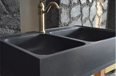 900mm black granite bowl kitchen sink karma shadow