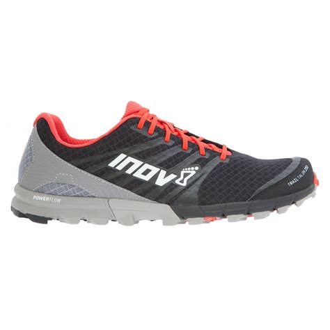 running shoes fitting the inov8 trail talon 250 in black and grey for at