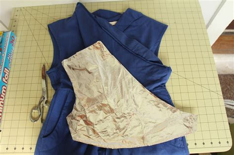 pattern from existing clothes grosgrain use tin foil to make your own dress patterns