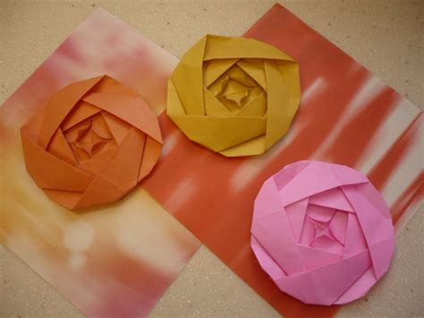 Origami Flat Flower - flat origami flowers www imgkid the image kid has it