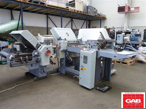Stahl Paper Folding Machine - folders used finishing machines stahl t 52 4 4 x 16 pages