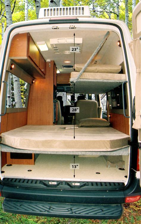 van with bed sprinter dyo 7 bunks and platform beds sportsmobile