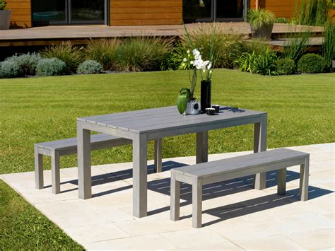 ensemble table et banc table banc de jardin flipside