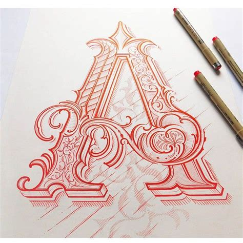 tattoo fonts letter c letter a by mateusz witczak designs lettering