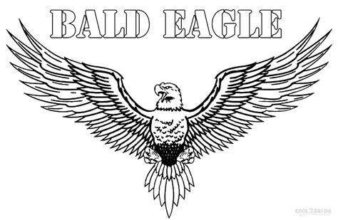 Bald Eagle Coloring Pages Printable Bald Eagle Coloring Pages For Kids Cool2bkids