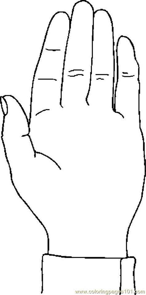 hands coloring page free free coloring pages