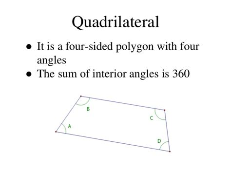 Quadrilateral Sum Of Interior Angles by Maths Quadrilateral