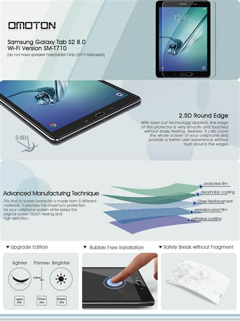 Samsung T715 T710 Tab S2 8 Inch Tempered Glass Screen Protector samsung galaxy tab s2 8 0 glass screen