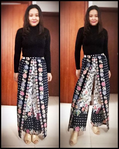 Batik Culotte 1000 ideas about big size fashion on office