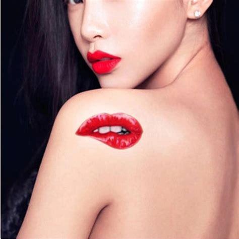 tattoo lips stickers other tattoos body art 10pcs halloween red lips make