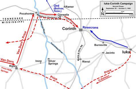 map of corinth battle of hatchie s bridge