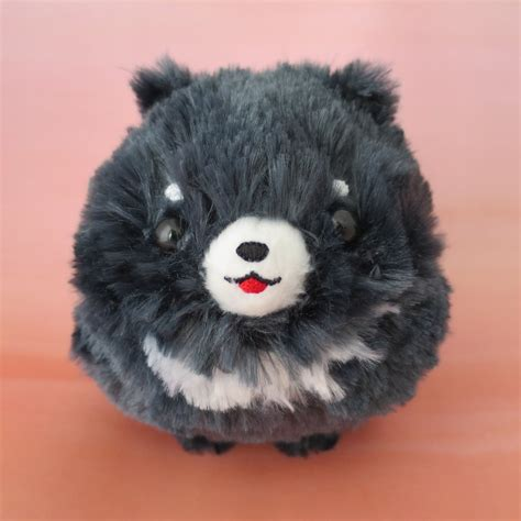 black pomeranian stuffed animal pomeranian puppy plush genkimix