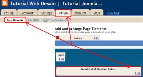 tutorial desain header website menambahkan header di blogspot tutorial web desain