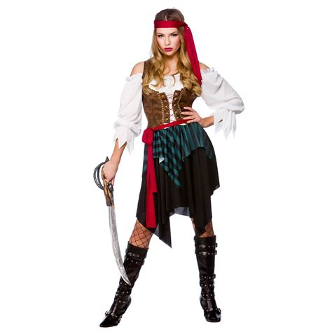 Tarty Costumes by Caribbean Pirate Fancy Dress Costume Themed
