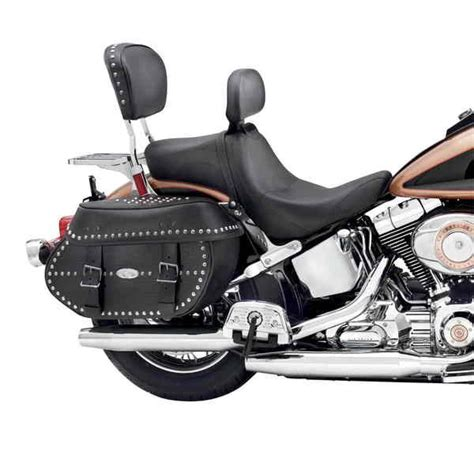 Harley Davidson Backrest by New Signature Series Seat With Rider Backrest From Harley