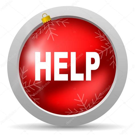 help red glossy christmas icon on white background stock