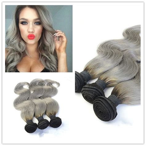 body wave on gray hair aliexpress com buy ombre 1b gray virgin body wave grey