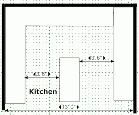 kitchen island design measurements kitchen design