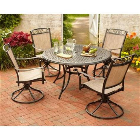 home depot patio dining sets hton bay santa 5 patio dining set s5