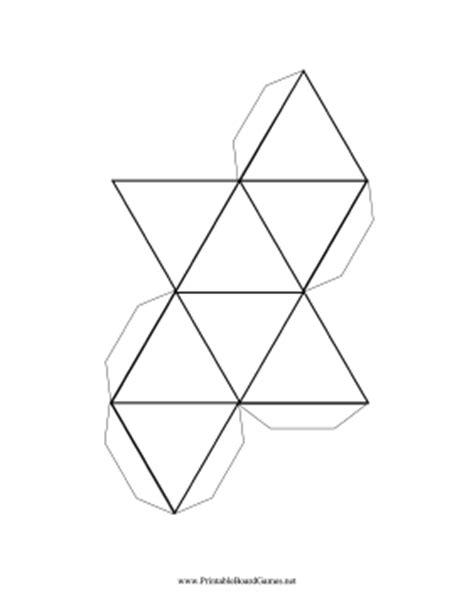 printable 8 sided dice template printable blank 8 sided die