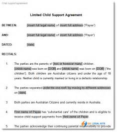 Child Support Template by Child Support Agreement Template To Document Arrangements