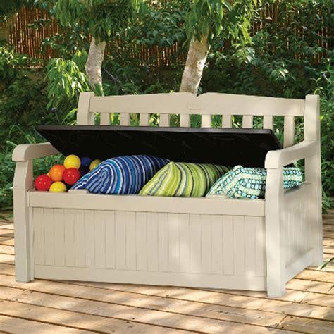banc de jardin en resine coffre banc de jardin r 233 sine keter bogota 265l beige colis