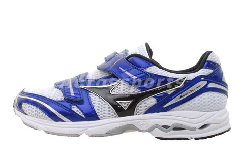 mens velcro athletic shoes mizuno wave idaten gr 2 cf white blue velcro mens racing