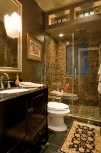 brown marble bathroom