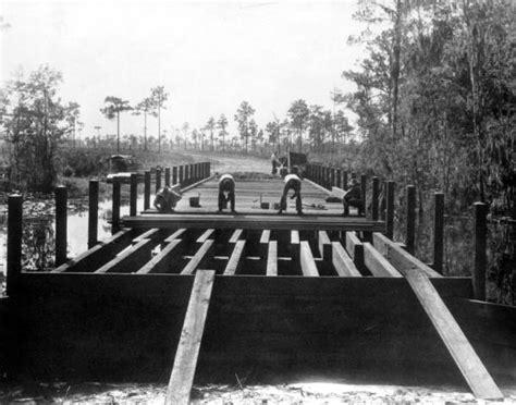 Highlands County Fl Court Records Florida Memory Bridge Construction At Highlands Hammock State Park Highlands