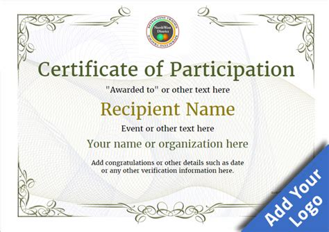 certificate of participation template for kids jpg best