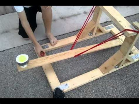 How to make a water balloon launcher for physics youtube