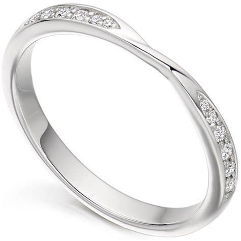 ribbon twist diamond wedding ring