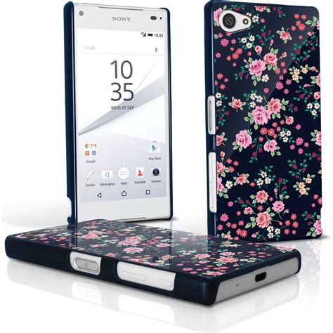 Sony Xperia Z5 Compact Mini Custom Casing Hardcase 05 igadgitz pink floral pattern pc cover shell for sony xperia z5 compact e5803