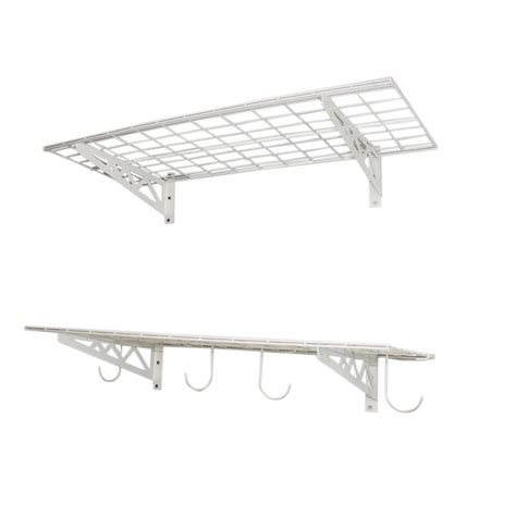 saferacks 18 in x 48 in industrial steel wall shelves 2