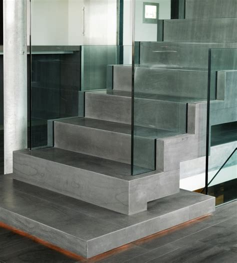 Interior Concrete Stairs Design Glass And Amazing Concrete Texture Minimalist Stairs Casa G By Gudmundur Jonsson