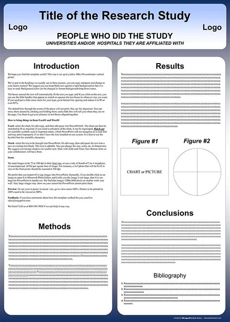 poster template vertical free powerpoint scientific research poster templates for