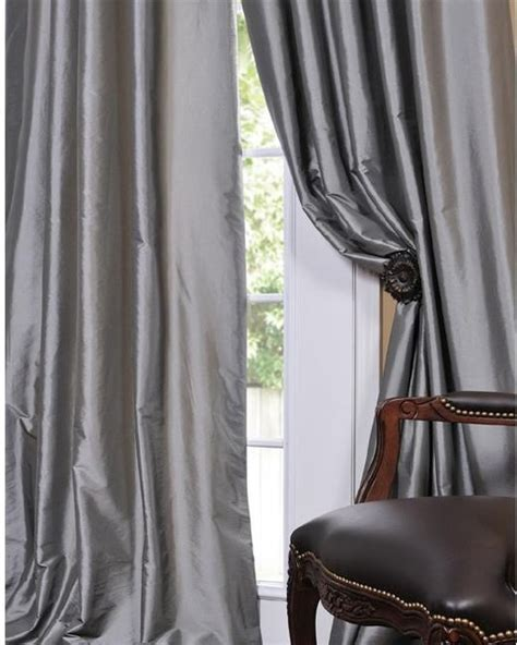 taffeta curtains solid faux silk taffeta platinum curtain panel modern