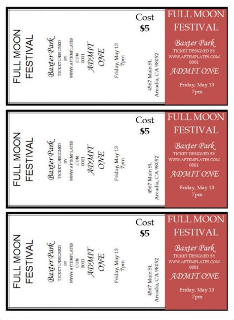 tickets templates free free ticket template shatterlion info
