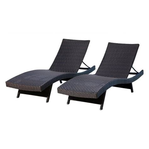 abbyson living chaise abbyson living redondo outdoor wicker chaise in espresso