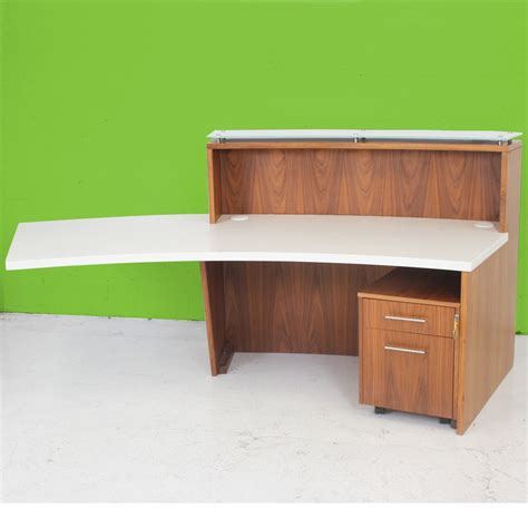 walnut reception desk walnut veneer reception desk curved reception desk
