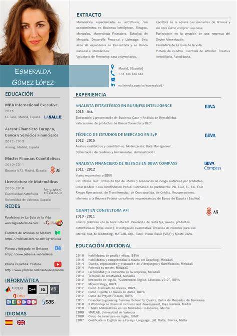 Ejemplo Curriculum Analista Financiero Curr 237 Culum Vitae La Gu 237 A De La Vida